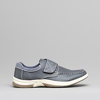 Dr Keller Ant Mens Touch Fasten Shoes Navy