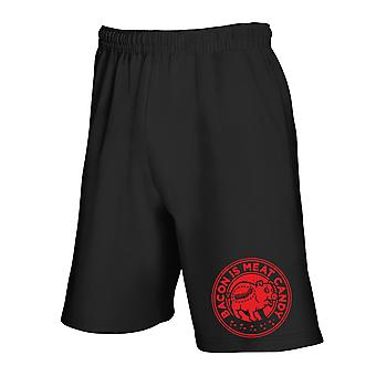 Black tracksuit shorts fun2480 bacon is meat candy