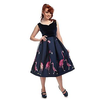 Collectif Vintage Women's Princess Liz Flamingo Dress