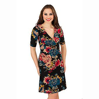 Pistachio Women's Floral Print Half Sleeved Dress