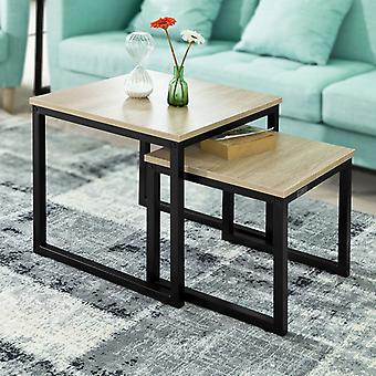 SoBuy Set di 2 tabelle Nesting Tabella laterale End Table, FBT42-N