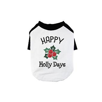 Happy Holly Days Cool BKWT Pets Baseball Shirt Holiday Gift