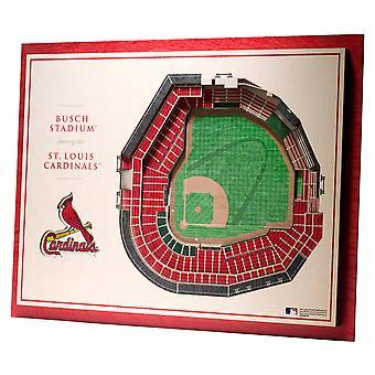 YouTheFan lemn decorare perete stadion St Louis Cardinals 43x33cm