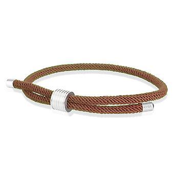 Skipper Bracelet Surfer Band Maritime Bracelet Nylon with Draw closure Brown 8450