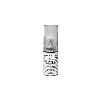 Sugarflair Puder Puff Glitter Staub Spray - schwarz 10g