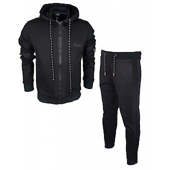 Cavalli class met rits en slim fit zwart trainingspak
