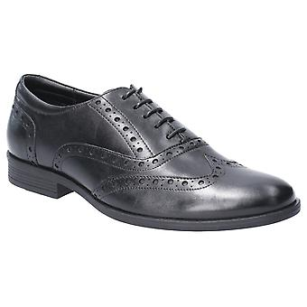 Hush Chiots Mens Oaken Brogue Lace Up Shoe Black