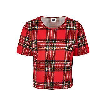 Urban Classics Damen T-Shirt AOP Tartan Short Oversized