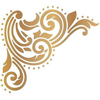 Couture Creations Gentleman's Emporium Acanthus Corner Hotfoil Stamp