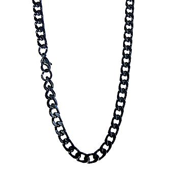 Tank chain 5 mm - black - stainless steel