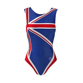 TEAM GB Girls Gymnastic Leotards For Kids + Free Velour Hipster Shorts