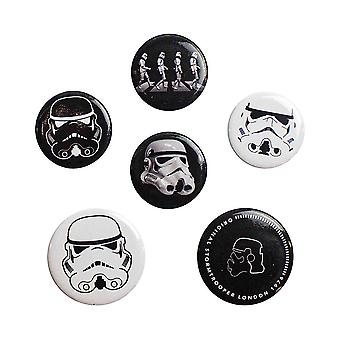 Star Wars, 6x Pins - Stormtrooper