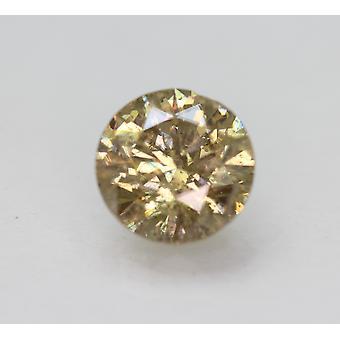 Cert 3.07 Karat Fancy Brown SI2 Runde brillant verbessert natürlichen Diamant 9,13 mm