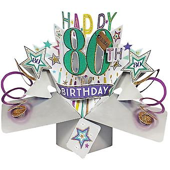Second Nature Pop Up Stars 3d 80th Happy Birthday Card Pop154