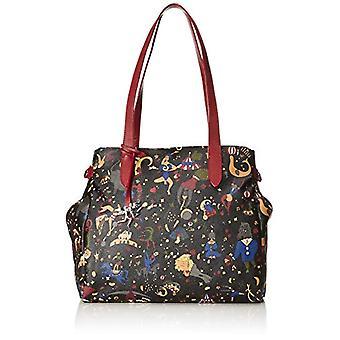 piero gui gui tote Bag Black Woman Hand Bag (Plum) 34x30x17 cm (W x H x L)