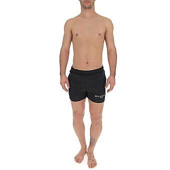 Givenchy Bma0061y5n001 Miehet's Musta Nylon Trunks