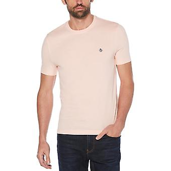 Original Penguin Pin Point Embroidery T-Shirt - Impatiens Pink