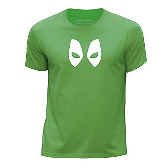 STUFF4 Boy's Round Neck T-Shirt/Deadpool Mask Inspired/Green
