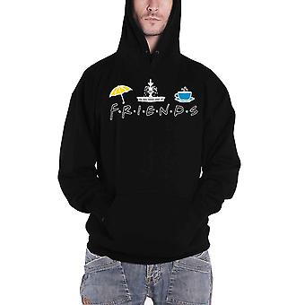 Friends Hoodie TV Show Icons Central Perk new Official Mens Black Pullover