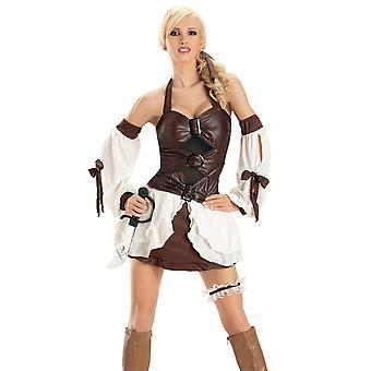 Full Figured BBW Halloween Costume Buckle Me Pirate