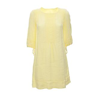 120% N0w4745000b317000n040 Women's Yellow Linen Dress