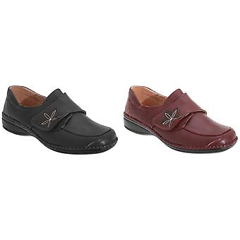 Boulevard Womens/Ladies Wide Fitting Touch Fastening Casual Shoes