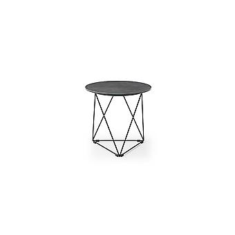 20&; X 20&; X 19&; Szary / Czarny ceramiczny/żelazny stolik boczny
