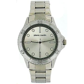 Pierre Cardin hopeinen kellotaulu miehet 2 sävy hopea metallirannekkeella Dress Watch PCG11S