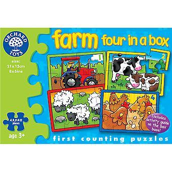 مزرعة أربعة في لغز مربع