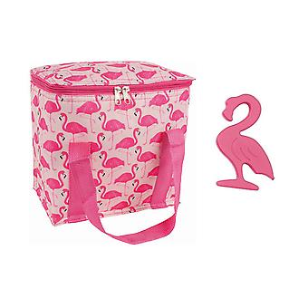 Porta Flamingo Fun Cooler Bag Ice Block Set
