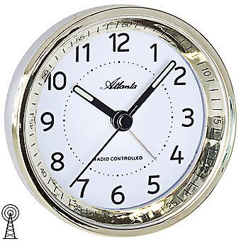 Atlanta 1858/9 Väckarklocka radiosände väckarklockan som är guld- med ljus snooze
