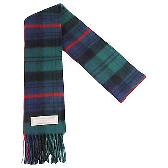 Locharron of Scotland Armstrong Modern Lambwool Scarf - Dark Green/Navy/Red