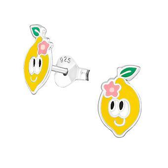 الليمون - 925 الجنيه الاسترليني الفضة الملونة الأذن ترصيع - W39141x
