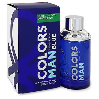 Colors de benetton blue eau de toilette spray by benetton 550359 100 ml
