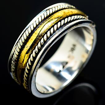 Meditation Spinner Ring Size 5.25 (925 Sterling Silver)  - Handmade Boho Vintage Jewelry RING7851