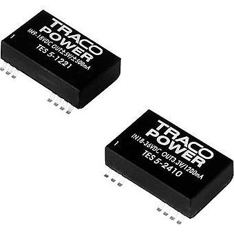 TracoPower TES 5-1222 DC/DC omformer (SMD) 12 V DC 12 V DC, -12 V DC 125 mA 5 W Nr. av utganger: 2 x