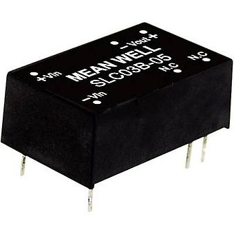Mean Well SLC03C-05 DC/DC converter (module) 600 mA 3 W No. of outputs: 1 x