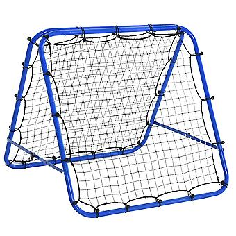 HOMCOM Rebounder Net Kids Football Goal Training Aid Soccer Kickback Target Goal Play Adjustable Angles Outdoor