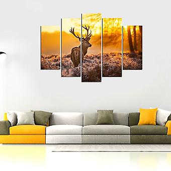 Malowanie ścienne 66 Wielokolorowy poliester, Drewno 20x3x40 cm, 20x3x50 cm, 20x3x60 cm