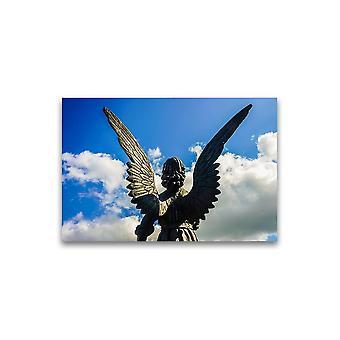 Skulptur av en vinge engel plakat -Bilde av Shutterstock