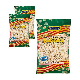 3 x 90g pack Ginni's Salted Wholegrain Popcorn Snack Picnic Camping Food