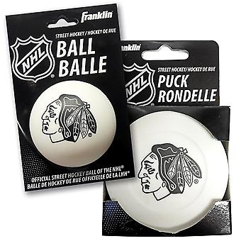 Street Hockey Puck - Palla Chicago Black Hawks