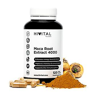 Peruvian Maca Concentrated Extract 4000 mg 120 vegetable capsules