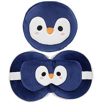 Cutiemals Childrens/Kids Penguin Travel Pillow With Eye Mask