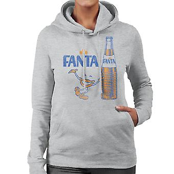 Fanta 1970s Retro Bottle Women's Hooded Sweatshirt