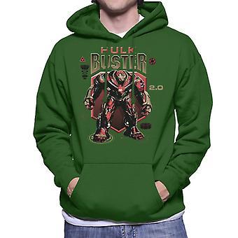 マーベル アベンジャーズ無限戦争 Hulkbuster 2 スターク産業メンズ フード付きスウェット シャツ