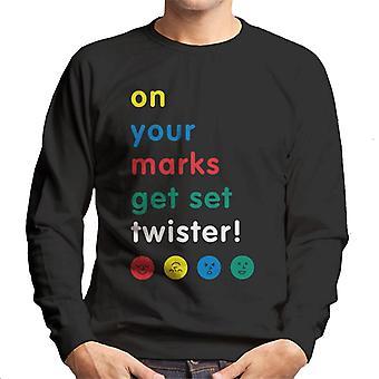 Twister On Your Marks Get Set Twister Men's Sweatshirt