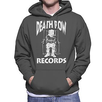 Death Row Records stoel Logo witte mannen Hooded Sweatshirt