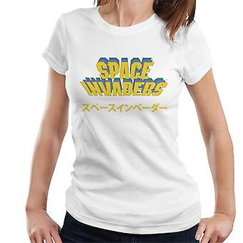 Space Invaders Japanese Text Women's T-Shirt