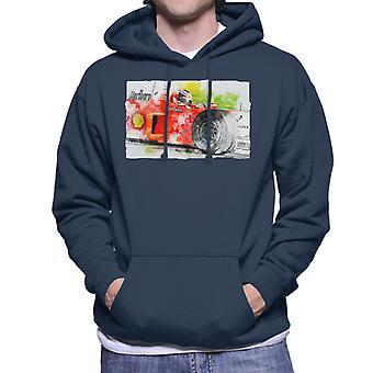モータースポーツ画像 マイケルシューマッハバルセロナスペインGPメン&アポ;sフードスウェットシャツ